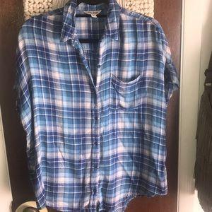 🍀Lucky Brand🍀 short sleeve flannel shirt